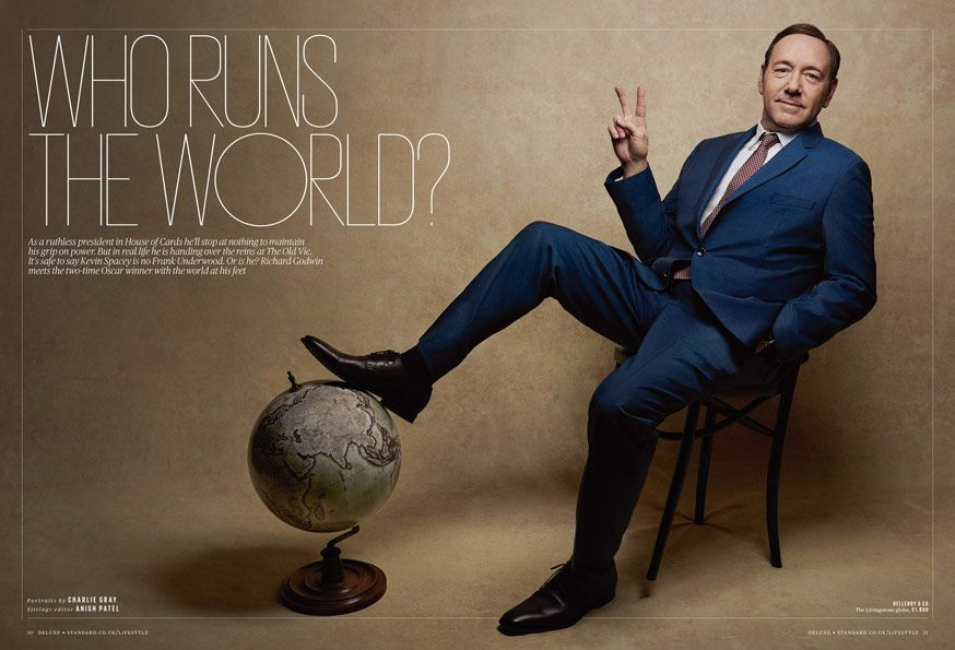 Kevin Spacey / Charlie Gray Photographer ES Magaine